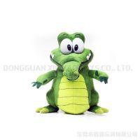 仿真小鳄鱼 卡通毛绒动物鳄鱼玩偶站姿20cm高可爱玩偶厂家定做
