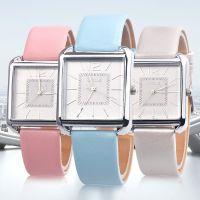 外贸热卖OKTIME 闪烁字面方壳手表学生男生女生真皮皮带手表