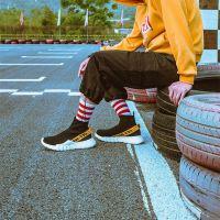 韩国ins潮流嘻哈ulzzang中筒运动袜条纹原宿街头滑板男士棉袜子酷