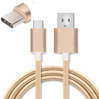 重金属尼龙编织手机数据线安卓Type-C纯铜芯数据线包装厂家定制