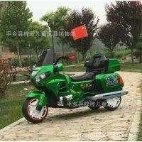 新品儿童电动车三轮车哈雷摩托车小孩汽车 可坐带遥控 新款 童车