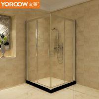 友莱卫浴 淋浴房方形 卫生间浴室洗澡间隔断简易钢化玻璃定制款
