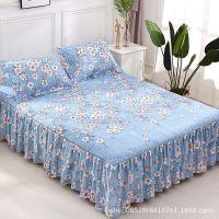 新款床罩 厂家直销斜纹加厚磨毛防水床罩床裙 家纺床上用品批发
