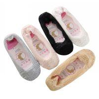 袜子 蕾丝船袜 硅胶浅口隐形袜夏季薄款短丝袜 新品短袜