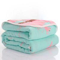 毛巾被空调单双人纱布三层成人午睡夏凉被婴儿童盖毯夏薄纯棉毯子