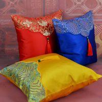 中式古典沙发靠枕套 中式家居靠垫套一件代发 红木坐椅刺绣抱枕套