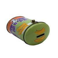 义信利yx90定制儿童磨牙棒饼干铁盒 椭圆形糖果铁罐 彩印异型马口铁带锁扣存钱罐