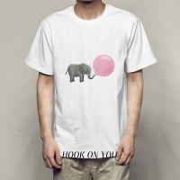 BABY ELEPHANT小象系列创意印花oversize百搭潮款男女T恤衫2018热