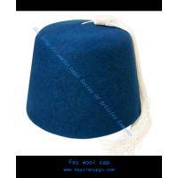 摩洛哥米色流苏蓝色羊毛帽Morocco Beige Tassels Wool Cap