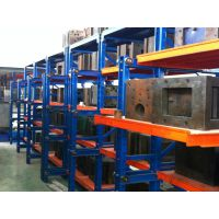 四层十二抽带天车葫芦抽屉式立体仓储货架,1000kg/层固联重型货架,型号3*0.6*2米