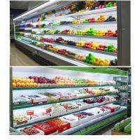 新乡市卖水果保鲜柜风幕柜的厂家,冷藏展示柜格