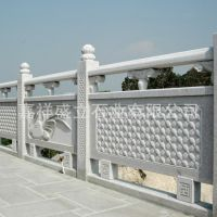 大量出售石雕栏杆 大理石河堤河岸石柱护栏 免费安装
