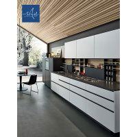 溪岸 现代简约橱柜定制工业风开放式橱柜定做厨房橱柜装修设计