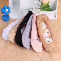 蕾丝船袜女浅口隐形蕾丝硅胶防滑女袜直批批发韩版夏季