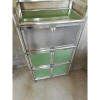 厨房置物架多层落地不锈钢微波炉架蔬菜层架浴室带门钢收纳橱柜