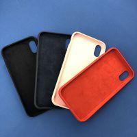 东莞厂家供应苹果IphoneX XS XS MAX XR全包液态硅胶手机壳 真正超纤液态硅胶手机壳