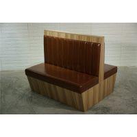 双面烤肉店板式卡座沙发定做,酸菜鱼餐厅家具