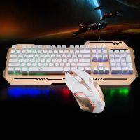 力美TX400背光电脑键鼠套装有线USB游戏键盘鼠标套装机械手感发光