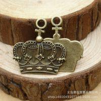 合金挂件 青铜 复古皇冠挂件 27*26mm ebay速卖通热销货源 12101