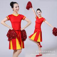 新款啦啦操服装 成人啦啦操演出服比赛服男女足球宝贝表演服套装