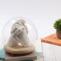 3D立体石膏粉雕塑克隆粉情侣版手模型制作手足印手脚印模粉材料