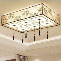 新中式LED吸顶灯简约现代客厅卧室长方形餐厅复古中国风灯具批发