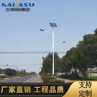 10米12V太阳能路灯高低臂臂新农村建设专用超亮LED路灯农村路灯采购