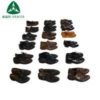 厂家大量供应二手男士商务牛皮包皮头透气低帮整柜批发皮鞋