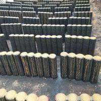 德州河堤草坪混凝土仿木桩厂家 批发水泥仿木桩 纹理逼真