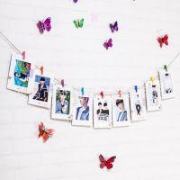 7寸邮戳9张创意DIY照片墙组合纸相框悬挂精美照片送夹子和麻绳