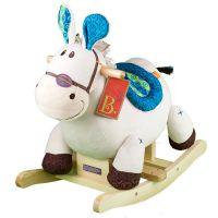比乐B.Toys儿童木马摇摇马车玩具宝宝木质毛绒大号周岁礼物18个月