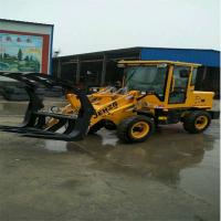 厂家供应ZL-910型装载机小型四驱电启动小铲车液压助力抓草抓木机