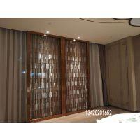 现代简约创意不锈钢屏风镂空隔断装饰玄关客厅餐厅