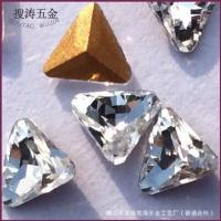 新品上市 5mm白色三角水晶异形钻k9玻璃钻 手表眼镜戒指饰品配件