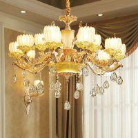 楼中楼客厅蜡烛灯餐厅卧室水晶灯简欧LED灯具欧式灯