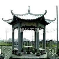 单层欧式 石雕凉亭 弧形古建凉亭  博诺石雕厂供应