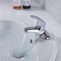 和地狼面盆龙头卫生间洗手台盆双联铜加厚单把双孔老式冷热水