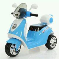 新款儿童电动摩托迷你小木兰踏板摩托带后背箱电动三轮摩托批发