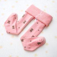 针织连体袜子纯白女童打底裤连脚袜裤粉色连裤祙打底袜连体灰色