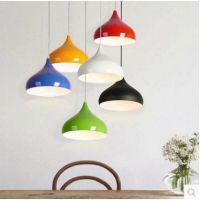 创意工作室节能灯 网吧办公室LED吊灯 彩色单头咖啡厅灯具