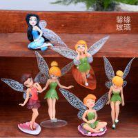 迪士尼6款小仙女 花仙子摆件 精灵装饰品多肉微景观配件