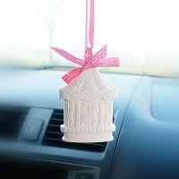 韩国创意汽车香水挂件高档车载香薰挂件车内挂饰品女后视镜吊坠