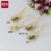 如意喷点小汤匙 塑料汤勺 餐厅喝汤勺子 密胺美耐皿仿瓷日韩餐具