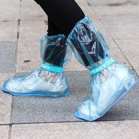 户外旅游成人雨靴雨天防滑防水加厚高筒雨鞋套 绑带高帮长款