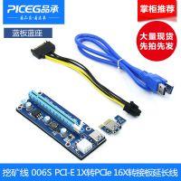 006S PCI-E延长线1x转16x显卡转接线 防烧设计 主板显卡挖矿线