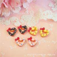 爱心甜甜圈蛋糕巧克力蛋黄草莓蝴蝶结diy手工奶油手机壳配件