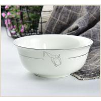 唐山奥美批发家用面碗 陶瓷大汤碗 骨质瓷餐厅用品