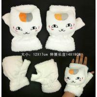 夏目友人帐手套猫咪老师 动漫周边产品批发 毛绒公仔卡通冬季保暖