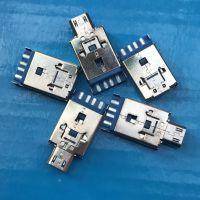 USB A公+MICRO 推拉二合一 沉板焊线式 蓝色胶芯