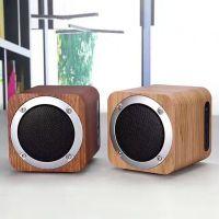 厂家直销木质蓝牙音箱迷你小音响礼品定制实木便携式桌面电子产品